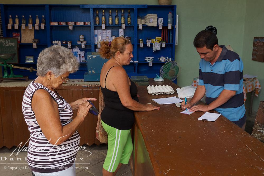 Food Rationing store in Trinidad, Cuba.