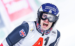"""29.01.2019, Planai, Schladming, AUT, FIS Weltcup Ski Alpin, Slalom, Herren, 2. Lauf, im Bild Dave Ryding (GBR) // Dave Ryding of United Kingdom reacts after his 2nd run of men's Slalom """"the Nightrace"""" of FIS ski alpine world cup at the Planai in Schladming, Austria on 2019/01/29. EXPA Pictures © 2019, PhotoCredit: EXPA/ JFK"""