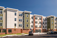 Exterior photo of Sharpe Square Apartments in Frederick MD by Jeffrey Sauers of CPI Production