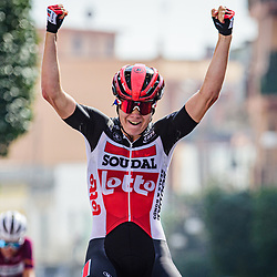 KOPECKY Lotte ( BEL ) – LOTTO SOUDAL LADIES ( LSL ) - BEL – Querformat - quer - horizontal - Landscape - Event/Veranstaltung: Giro Rosa Iccrea - 7. Stage - Category/Kategorie: Cycling - Road Cycling - Cycling Tour - Elite Women - Location/Ort: Europe – Italy - Start: Nola - Finish: Maddaloni - Discipline: Cycling - Road Cycling - Cycling Tour - Road Race ( RR ) - Distance: 112,5 km - Date/Datum: 17.09.2020 – Thursday - Photographer: © Arne Mill - frontalvision.com