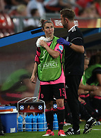 Football - 2017 UEFA Women's European [Euro] Championship - Group D: England vs. Scotland<br /> <br /> Jane Ross of Scotland goes off injured at Stadion Gagenwaard, Utrecht.<br /> <br /> COLORSPORT/LYNNE CAMERON