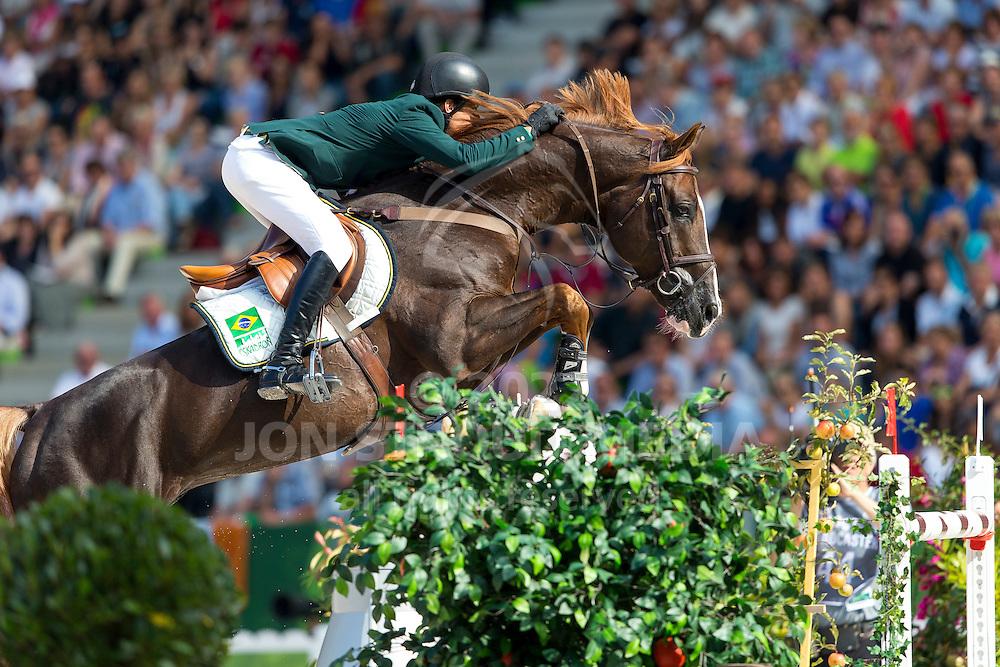 Pedro Veniss, (BRA), Quabri De L Isle - World Champions, - Second Round Team Competition - Alltech FEI World Equestrian Games™ 2014 - Normandy, France.<br /> © Hippo Foto Team - Leanjo De Koster<br /> 25/06/14