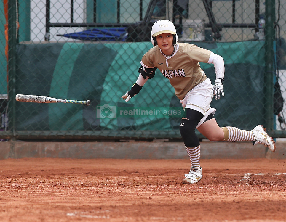 JAKARTA, Aug. 24, 2018  Nagasaki Nozomi of Japan competes during women's Team Grand Final of softball against Chinese Taipei at the 18th Asian Games in Jakarta, Indonesia on Aug. 24, 2018. Japan won the gold medal by 7-0. (Credit Image: © Ding Ting/Xinhua via ZUMA Wire)