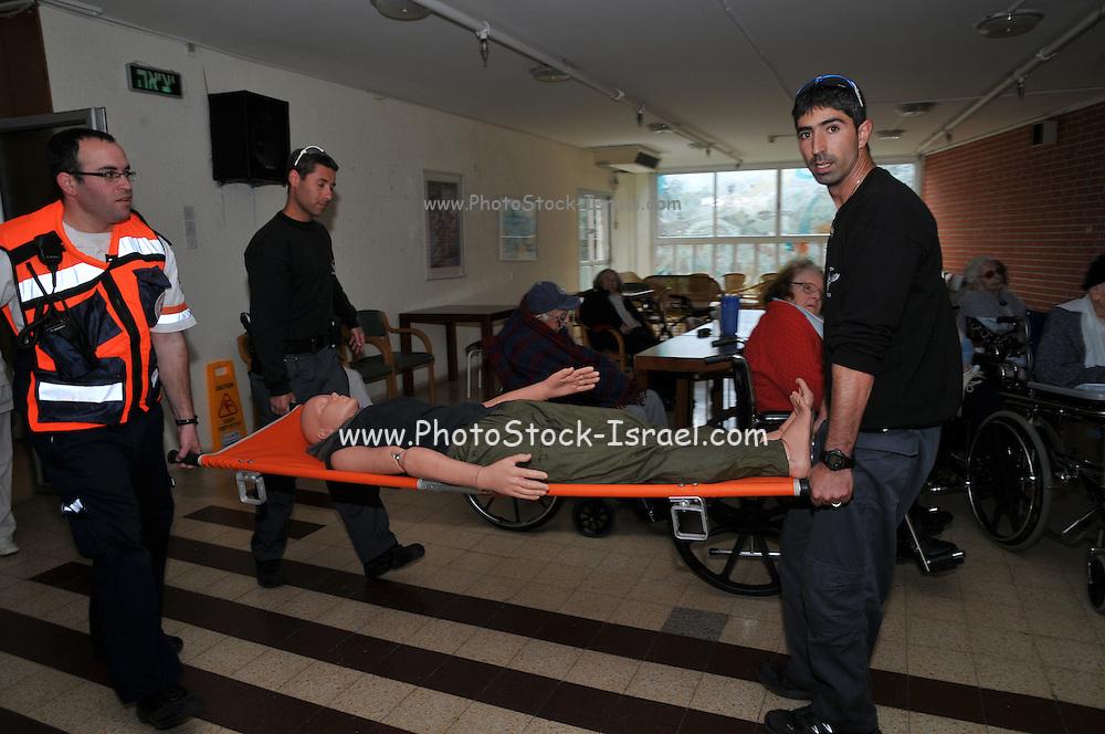 Hospital evacuation drill by the Haifa fire department
