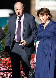© Licensed to London News Pictures. 22/07/2019. London, UK. Conservative MPs Damian Green and Maria Miller arrive for Prime Minister Theresa May's farewell drinks reception at Downing Street.  Voting in the Conservative party leadership election ends today with the results to be announced tomorrow. Photo credit: Peter Macdiarmid/LNP