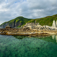 One of Aomori Prefectures' most stunning natrual destinations: The Hotokegaura rock formations on Mutsu Bay.