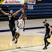 February 13 2021 Berkeley, CA  U.S.A. California guard Joel Brown (1) drives to the hoop in the second half during the NCAA Men's Basketball game between Colorado Buffaloes and the California Golden Bears 71-62 win at Hass Pavilion Berkeley Calif.  Thurman James / CSM