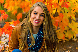 Fall Portrait with leaves