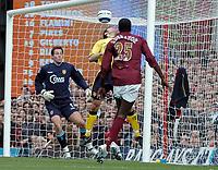 Photo: Ed Godden.<br />Arsenal v Aston Villa. The Barclays Premiership. 01/04/2006. Emmanuel Adebayor opens the scoring for Arsenal.