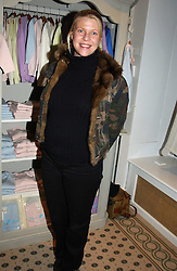 SOPHIA THOMPSON at a party to celebrate the opening of children's store Chippi Hacki at 8 Motcomb Street, London, SW1 on 24th November 2004.<br />
