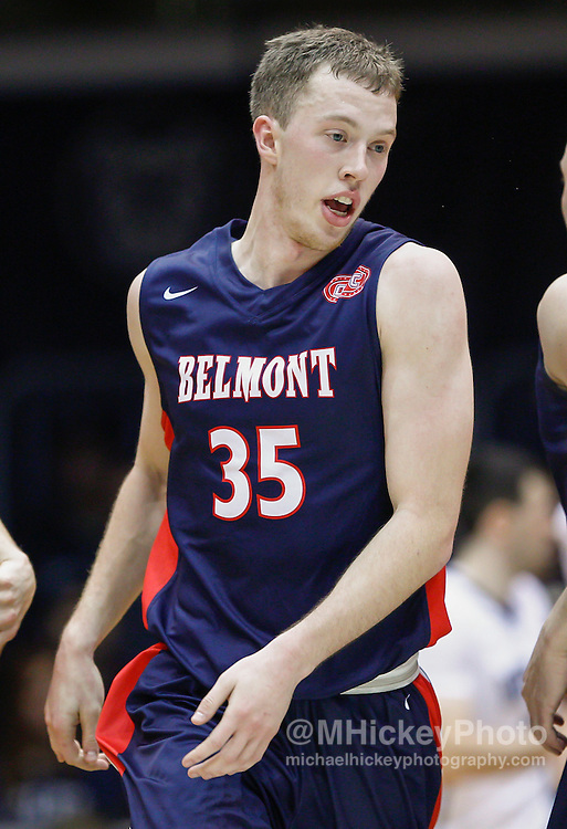 INDIANAPOLIS, IN - DECEMBER 28: Evan Bradds #35 of the Belmont Bruins is seen during the game against the Butler Bulldogs at Hinkle Fieldhouse on December 28, 2014 in Indianapolis, Indiana. (Photo by Michael Hickey/Getty Images) *** Local Caption *** Evan Bradds