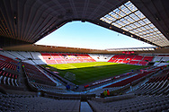 A general view of the stadium before the EFL Sky Bet League 1 first leg Play Off match between Sunderland and Portsmouth at the Stadium Of Light, Sunderland, England on 11 May 2019.