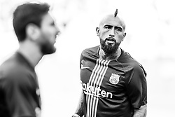 August 15, 2018 - Arturo Vidal from Chile during the Joan Gamper trophy game between FC Barcelona and CA Boca Juniors in Camp Nou Stadium at Barcelona, on 15 of August of 2018, Spain. (Credit Image: © AFP7 via ZUMA Wire)