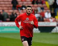 Jack O'Connell of Sheffield Utd warms up during the English League One match at Bramall Lane Stadium, Sheffield. Picture date: April 17th 2017. Pic credit should read: Simon Bellis/Sportimage