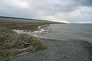 Nieuwe Bildtzijl, 1 nov. 2006. Extreem hoog water in het Friese buitendijkse kweldergebied. (Friesland Buitendijks - Fryslân Bûtendyks - Noorderleeg - Noarderleech)
