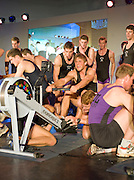 Bayswater, London,  Reading University, Bill LUCUS, pulls, Marcus BATEMAN, holds down the feet,  during the Snowdon Rowing Challenge, on Friday   05/03/2010  at the Porchester Hall London GREAT BRITAIN.  [Mandatory Credit. Peter Spurrier/Intersport Images]