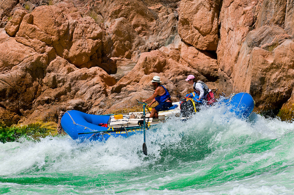 Whitewater rafting, Granite Rapid, Grand Canyon, Grand Canyon National Park, Arizona USA