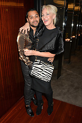 PABLO GANGULI and AMANDA ELIASCH at a dinner hosted by Liberatum to honour Francis Ford Coppola held at the Bulgari Hotel & Residences, 171 Knightsbridge, London on 17th November 2014.