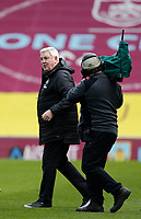Football - 2020 / 2021 Premier League - Burnley vs. Newcastle United<br /> <br /> A happy Newcastle United manager Steve Bruce at full time after his side came away with a 2-1 win, at Turf Moor.<br /> <br /> <br /> COLORSPORT/ALAN MARTIN