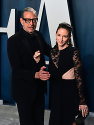 Jeff Goldblum and Emilie Livingston attending the Vanity Fair Oscar Party held at the Wallis Annenberg Center for the Performing Arts in Beverly Hills, Los Angeles, California, USA.