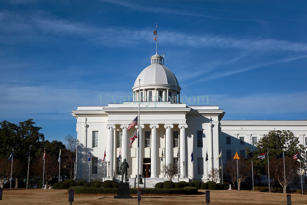 07 December 2014. Montgomery, Alabama. <br /> Alabama State Capitol building, State House. <br /> Photo; Charlie Varley/varleypix.com
