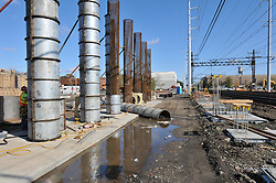 Construction Progress Photography of the Railroad Station at Fairfield Metro Center - Site visit 4 of once per month Chronological Documentation.