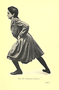 19. Forward fallout from the book ' Gymnastic exercises for elementary schools, supplemented by fancy steps and games ' Trask, Harriet Edna, Published in 1904 in Philadelphia by Christopher Sower Company