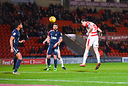 John Marquis of Doncaster Rovers (9) scores a goal to make the score 1-0 during the EFL Sky Bet League 1 match between Doncaster Rovers and Southend United at the Keepmoat Stadium, Doncaster, England on 12 February 2019.