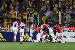 August 24, 2017 - °Stanbul, Türkiye - Vardar players celebrate their goal during Fenerbahce vs. Vardar UEFA Europe League Game at Ulker Stadium, Kadikoy, Istanbul, Turkey (Credit Image: © Tolga Adanali/Depo Photos via ZUMA Wire)