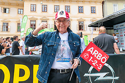 03.07.2017, Wien, AUT, Ö-Tour, Österreich Radrundfahrt 2017, 1. Etappe von Graz nach Wien (193,9 km), im Bild Radsport Fan Eddy Merckx // during the 1st stage from Graz to Vienna (193,9 km) of 2017 Tour of Austria. Wien, Austria on 2017/07/03. EXPA Pictures © 2017, PhotoCredit: EXPA/ JFK
