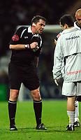 Photo: Paul Greenwood.<br />Preston North End v Norwich City. Coca Cola Championship. 20/02/2007. Referee Phil Dowd, left, speaks to Preston Physio Mark Kemp
