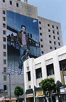 1987 Mural of John McEnroe on the east side of the Equitable Building at Hollywood Blvd. & Vine St.