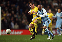 Photo: Paul Thomas.<br /> Manchester City v Sheffield Wednesday. The FA Cup. 16/01/2007.<br /> <br /> Man City's Ousmane Dabo (R) is tackled by Glenn Whelan.