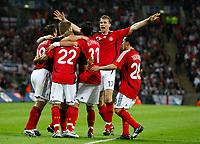 Photo: Richard Lane/Sportsbeat Images.<br />England v Germany. International Friendly. 22/08/2007. <br />Germany celebrate Kevin Kuranyi celebrates scoring their first goal.