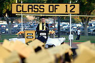 Antioch High School student body president Joseph Chatham speaks during graduation on Friday, June 8, 2012. (Photo by Kevin Bartram)