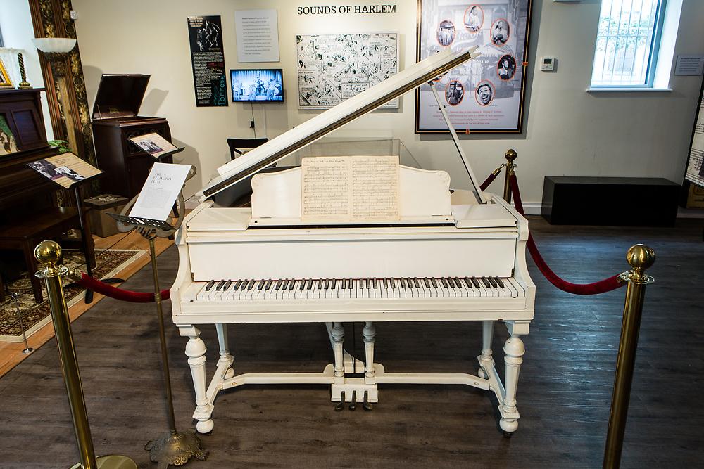 Duke Ellington's piano in the National Museum of Jazz in Harlem.