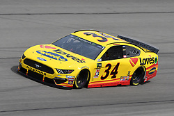 March 1, 2019 - Las Vegas, NV, U.S. - LAS VEGAS, NV - MARCH 01: Michael McDowell (34) Front Row Motorsports Ford Mustang GT drives through turn four during practice for the Monster Energy NASCAR Cup Series 22nd Annual Pennzoil 400 on March 1, 2019, at the Las Vegas Motor Speedway in Las Vegas, Nevada. (Photo by Michael Allio/Icon Sportswire) (Credit Image: © Michael Allio/Icon SMI via ZUMA Press)