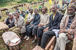 Geoff Watts, a buyer from Intelligentsia coffee speaks to farmers at a co-op in Waleensuu (Wolinsu), Ethiopia.   The region is home to the largest pool of genetic diversity in the world of coffee. It is home to more genetic diversity in coffee than the rest of the producing countries combined by a huge margin. Ethiopia boasts the most ancient and the most compelling traditions for coffee consumption that the world has ever seen. Coffee permeates the cultural fabric of Ethiopian life.