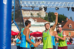 Florian Schnetzer of Austria at Beach Volleyball Challenge Ljubljana 2014, on August 2, 2014 in Kongresni trg, Ljubljana, Slovenia. Photo by Matic Klansek Velej / Sportida.com