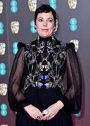 Olivia Colman attending the 73rd British Academy Film Awards held at the Royal Albert Hall, London.