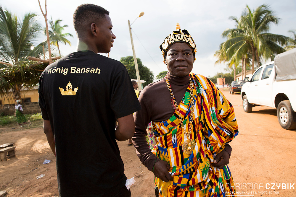 King Cephas Bansah  after the ceremony in Notse<br /> <br /> Day 2 of the Agbogboza Festival in Notse, Togo on September 2nd, 2016<br /> <br /> ***Togbe Ngoryifia Cephas Kosi Bansah of Gbi Traditional Area Hohoe Ghana and Traditional, Spiritual and Honorable King of the Ewes and his wife, Queen Mother Gabriele Akosua Bansah Ahado Hohoe Ghana***