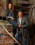Byron Stripling and Alexis Wilson at the Southern Theatre for the Power Couples story in Capital Style. (Will Shilling/Capital Style)