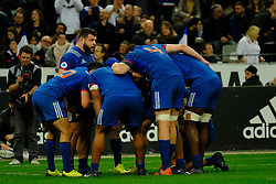 March 10, 2018 - Saint Denis, Seine Saint Denis, France - the French pack prepares the putting tactics during the NatWest Six Nations Rugby tournament between France and England at the Stade de France - St Denis - France..France won 22-16 (Credit Image: © Pierre Stevenin via ZUMA Wire)