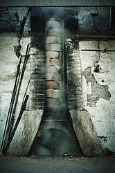 Il forno antico durante la cottura resta acceso per un giorno intero