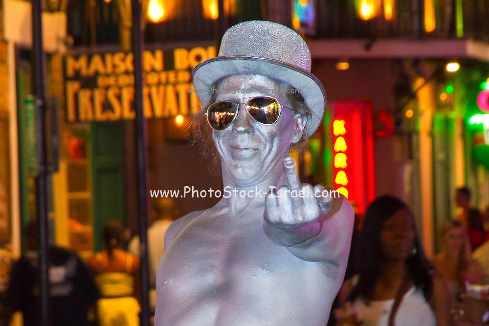 New Orleans night life – Bourbon street.