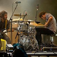 Das Pop (Niek Meul and Matt Eccles) perform live at Becks Fusions 2008, Castlefields Outdoor Arena, Manchester, Greater Manchester, UK, 06/09/2008