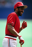 ST. LOUIS, MO-UNDATED:  Hall of Fame shortstop Ozzie Smith of the St. Louis Cardinals smiles prior to a game at Busch Stadium in St. Louis, Missouri.  Smith played for the Cardinals from 1982-1996.  (Photo by Ron Vesely)