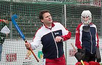 AMSTELVEEN - HOCKEY ACADEMIE, instructie techniek met  ex international keeper Bart Looije en Amsterdam keeper Derek van Essen. . COPYRIGHT KOEN SUYK
