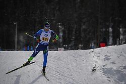 February 8, 2019 - Calgary, Alberta, Canada - Lazouski Dzmitri (BEL) is competing during Men's Relay of 7 BMW IBU World Cup Biathlon 2018-2019. Canmore, Canada, 08.02.2019 (Credit Image: © Russian Look via ZUMA Wire)