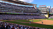 [Note:  This is an HDR photo was created from several exposures and combined during post-processing.]  A general view of Target Field during a game between the Minnesota Twins and Texas Rangers in Minneapolis, Minnesota on June 11, 2011.